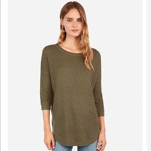 NEW Express Thermal Circle Hem Tunic Sweater M
